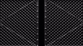 encerramento : Silver Wire Mesh Gates On Black Background