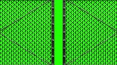 encerramento : Silver Wire Mesh Gates On Green Chroma Key