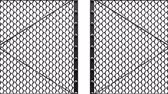 encerramento : Silver Wire Mesh Gates On White Background