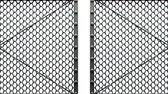 encerramento : Wire Mesh Gates On White Background