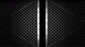 encerramento : Wire Mesh Gates That Is Spotlighted On Black Background