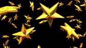 Gold Stars On Black Background Stok Video