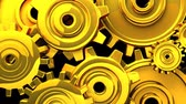 tloušťka : Gold Gears On Black Background.3DCG rendering animation that can loop.