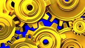 tloušťka : Gold Gears On Blue Chroma Key