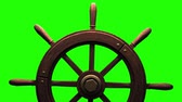 anahtar : Rudder on green chroma key.Zoom camera view.