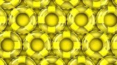 encantador : Yellow swim rings on yellow background.3DCG rendering animation that can loop.