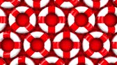 encantador : Red swim rings on red background