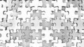 brinquedo : White Jigsaw Puzzle On Black Background