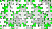 белый : White Jigsaw Puzzle On Green Chroma Key