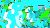 bilmece : Pale Blue Jigsaw Puzzle On Green Chroma Key