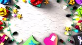amor : Garland Lights and Christmas Present Boxes.Loopable 3DCG render animation. Vídeos