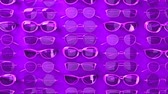 hűvös : Many purple glasses.Loopable 3DCG render animation.