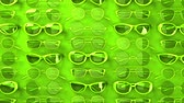 предотвращать : Many green glasses.Loopable 3DCG render animation.