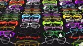 quadro negro : Colorful glasses. Loop able 3DCG render animation.
