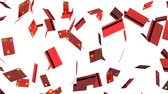 Red Credit cards on white background.Loop able 3D render animation. Stock Footage
