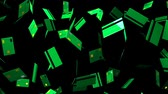 Green Credit cards on black background.Loop able 3D render animation. Стоковые видеозаписи