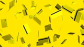 Yellow Credit cards on yellow background.Loop able 3D render animation.