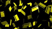 Yellow Credit cards on black background.Loop able 3D render animation.