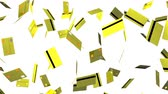 Yellow Credit cards on white background.Loop able 3D render animation.