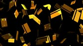dinheiro : Gold Credit cards on black background.Loop able 3D render animation.