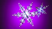 Clear snow crystals.Loop able 3D render animation.
