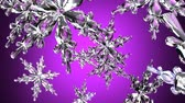 transparente : Clear snow crystals.3D render animation.