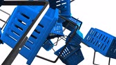 Blue Shopping baskets on white background