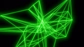 Green Lines Motion Background. Loopable 3D abstract animation. Stok Video