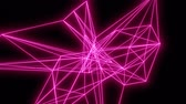 sem costura : Pink Lines Motion Background. Loopable 3D abstract animation.