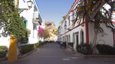 Puerto de Mogan village in Gran Canaria, Spain . Famous touristic destination in Canary islands. Stock Footage