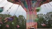 zíper : Closer View of the Swings at the Carnival