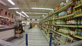 kordé : GoPro 4K Shopping Cart Moving Around the Meat Produce Section