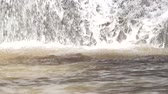 teal : A part of artificial waterfall, close up. Stock Footage
