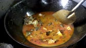 Crab boiling with in a big pan