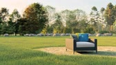 sessel : bench armchair in the park Videos