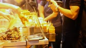 cena urbana : STREET FOOD IN HONG KONG Stock Footage