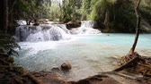 Kuang Si Waterfall, Luang prabang, Laos Stock Footage