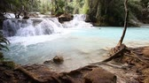 Beautiful landscape with a waterfall .Luang Propang Laos