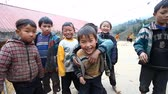 дикарь : Sapa, Vietnam - December 01, 2016 : Ethnic minority children at school.The building serves as a kindergarten for children from nearby villages.