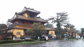 Vietnam. Imperial Royal Palace in Hue.The forbidden city of the emperors Stock Footage