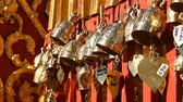 chimes : Buddhism. Buddhist bells in the temple. Sacred symbol. Traditional Buddhist praying bells