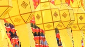 Paper lanterns, Chinese lanterns, Asian culture. Festival of Chinese Culture Stock Footage