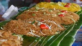 arroz frito : Asian Street food. Fried rice noodles traditional and popular dish in Asia