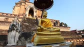 Чеди : Ancient temple of Wat Chedi Luang footage . Chiang Mai, Thailand. largest pagoda Chedi in Thailand
