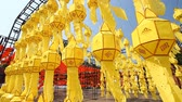 şanslı : Paper lanterns, Chinese lanterns, Asian culture. Festival of Chinese Culture Stok Video