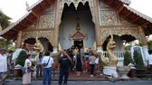 chao : Chiang Mai,Thailand-February 12 ,2017:Tourists from all over the world visit the famous temple.Wat Phra Sing is one of the oldest temples in Chiang Mai: its construction began in 1345.