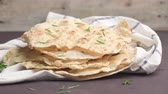 chapati : Homemade hot chapati Stock Footage