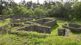 site : The Castro de Romariz is a fortified settlement dating from the 5th century BC, with occupancy levels up to the first century AD. Romariz - Santa Maria da Feira, Portugal. Stock Footage
