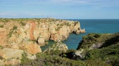stunning view : Cliffs view by Atlantic Ocean, Lagos, Algarve, Portugal.