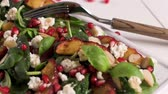mussarela : Fresh vegetable salad with grilled peach, pomegranate, spinach and fresh cheese.